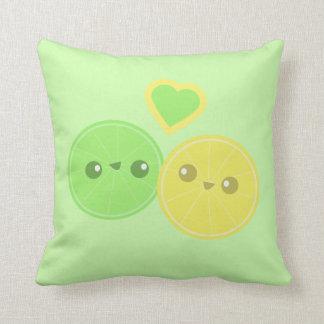 Lemon Lime Heart Kawaii pillow
