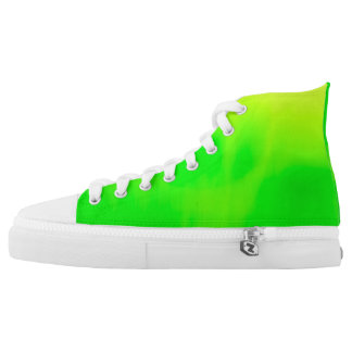 Lemon Lime Hi Tops Printed Shoes
