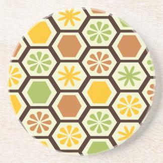 Lemon-Lime patterned coaster