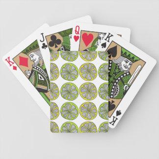 Lemon Lime Playing Cards