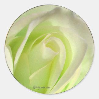 Lemon Lime Rose Wedding Envelope Seal Stickers