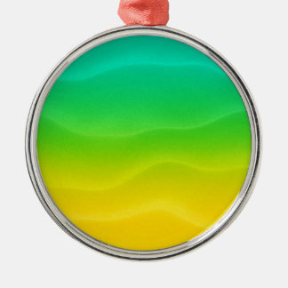 Lemon Lime Sand Dunes Christmas Ornament