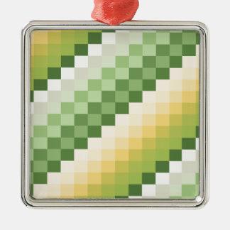 Lemon Lime Silver-Colored Square Decoration
