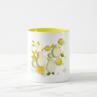 Lemon lovebirds mug by ORDesigns.