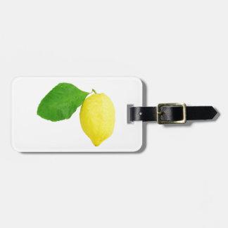 Lemon Luggage Tag