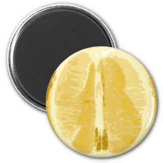 Lemon 6 Cm Round Magnet
