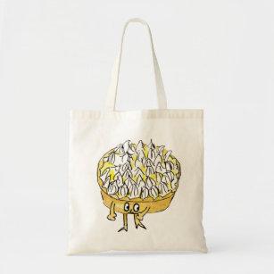 Lemon Meringue Pie Funny Quirky watercolour Art Tote Bag