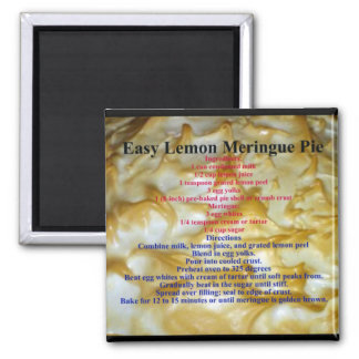 Lemon Meringue Pie Recipe Magnet