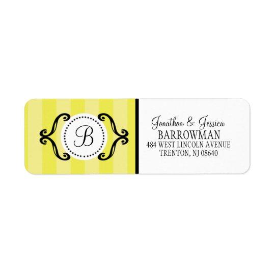 Lemon Meringue Sweet Charming Striped Personalised
