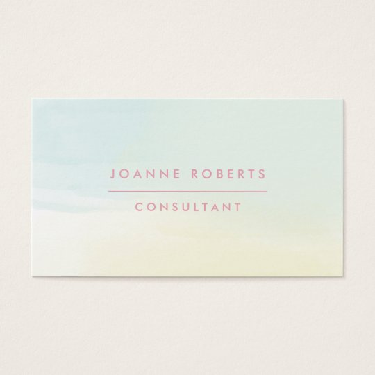 Lemon Mint & Pink Ombre Beauty or Professional Business Card