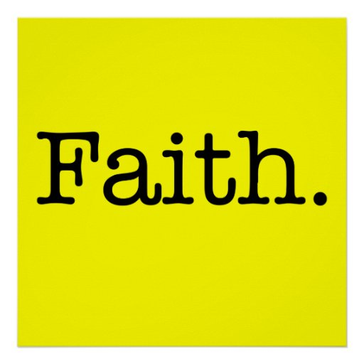 Lemon Neon Yellow And Black Faith Quote Template Posters