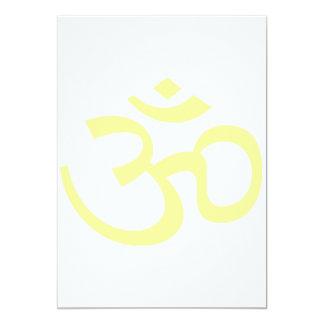 "Lemon Om or Aum ॐ.png 5"" X 7"" Invitation Card"