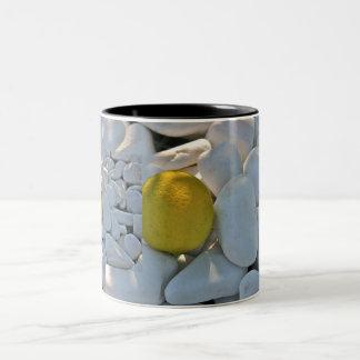 lemon on pebbles mug