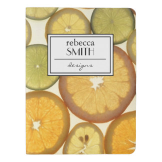 Lemon, Orange and Lime Slices - Yellow Green Extra Large Moleskine Notebook