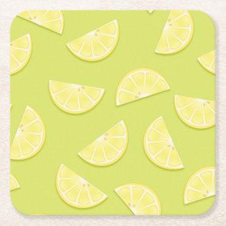 Lemon paper coasters