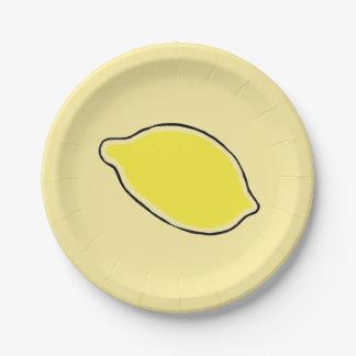Lemon Paper Plate