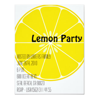 Lemon Party Invitation