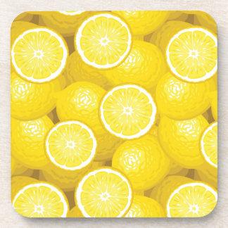 Lemon Pattern 2 Beverage Coasters