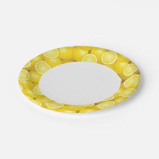 Lemon Pattern 2 Paper Plate