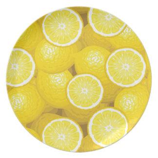 Lemon Pattern 2 Party Plates