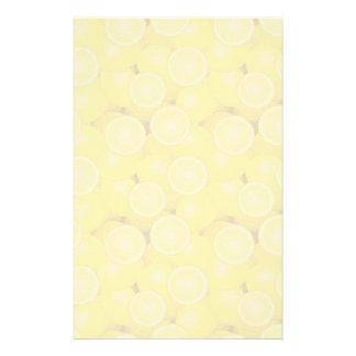 Lemon Pattern 2 Stationery