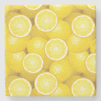 Lemon Pattern 2 Stone Coaster