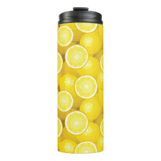 Lemon Pattern 2 Thermal Tumbler