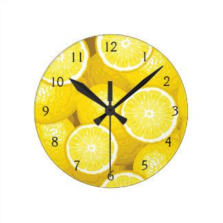 Lemon Pattern 2 Wallclock