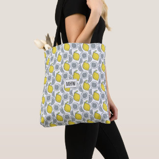 Lemon Pattern custom monogram bags