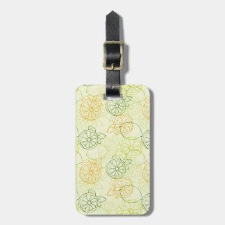 Lemon Pattern Luggage Tag