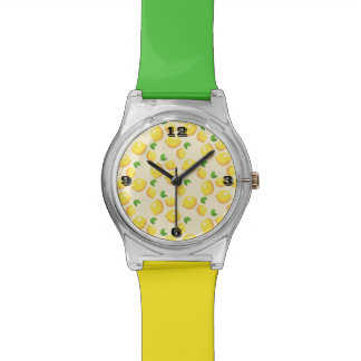 Lemon Pattern Multi-Colored Band Watch