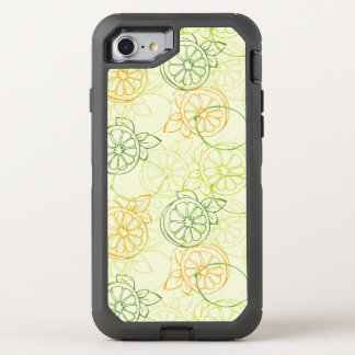 Lemon Pattern OtterBox Defender iPhone 8/7 Case