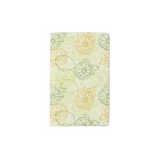 Lemon Pattern Pocket Moleskine Notebook