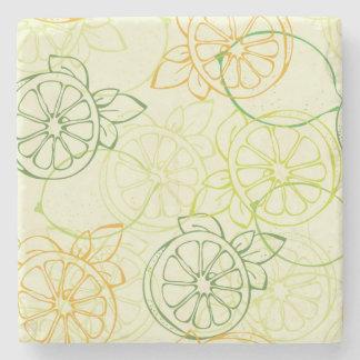 Lemon Pattern Stone Coaster