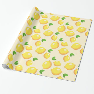 Lemon Pattern Wrapping Paper
