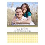Lemon Photo Save the Date Wedding Postcards