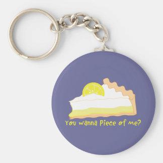 lemon pie key chain