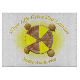 Lemon Pie Photo Slices Cutting Board