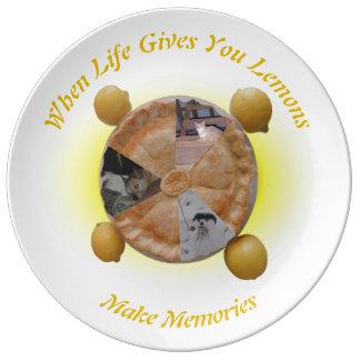 Lemon Pie Photo Slices Plate