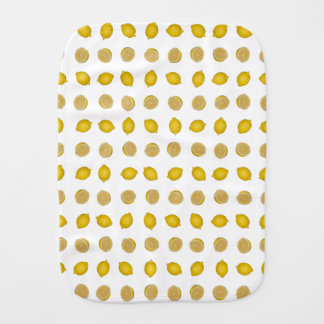 Lemon Print Burp Cloth