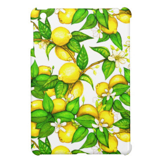 Lemon Print iPad Case