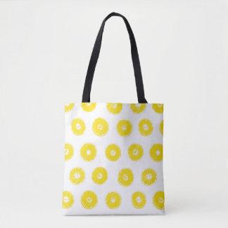 Lemon Print Tote Bag