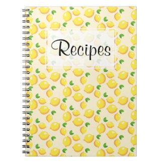 Lemon Recipe Journal Note Book