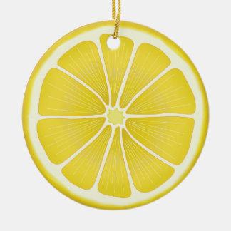 Lemon Round Ceramic Decoration