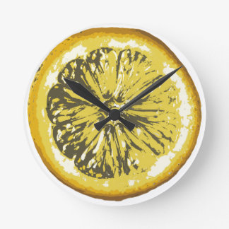 Lemon Round Clock