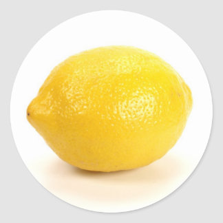 Lemon Round Sticker