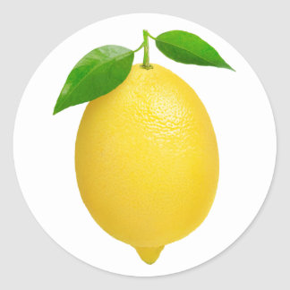 Lemon Round Sticker