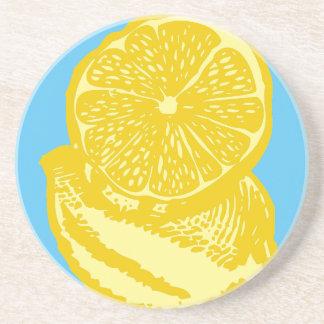 Lemon Sandstone Drink Coaster