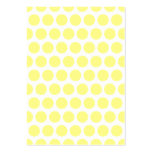 Lemon Sherbet Polka Dots Pack Of Chubby Business Cards