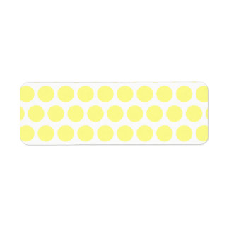 Lemon Sherbet Polka Dots Return Address Label